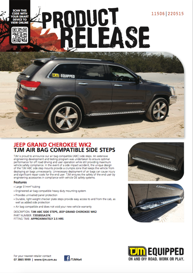 Jeep Gc Air Bag Compatible Side Steps Latest News Tjm